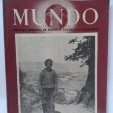 Coleccionismo de Revistas y Periódicos: MUNDO REVISTA SEMANAL DE POLITICA EXTERIOR Y ECONOMIA Nº 482 AÑO 1949.. Lote 127766347