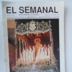 Coleccionismo de Revistas y Periódicos: EL SEMANAL SUPLEMENTO CULTURAL SEMANA SANTA 89 - Nº 8 MARZO 1989.. Lote 127860367