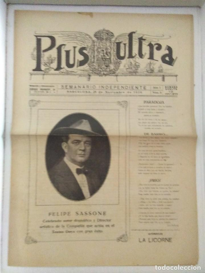 PLUS ULTRA SEMANARIO INDEPENDENTE AÑO 1 N 8 1926 RARO (Coleccionismo - Revistas y Periódicos Antiguos (hasta 1.939))