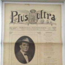 Coleccionismo de Revistas y Periódicos: PLUS ULTRA SEMANARIO INDEPENDENTE AÑO 1 N 8 1926 RARO. Lote 127992295