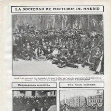 Coleccionismo de Revistas y Periódicos: 1907 HOJA REVISTA GUIPÚZCOA SAN SEBASTIÁN PRIMERA PIEDRA ESCUELA DE ARTES Y OFICIOS. Lote 128000439