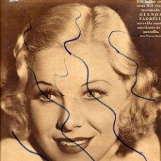 Coleccionismo de Revistas y Periódicos: GLENDA FARRELL 1935 ESTRELLA CINE AMERICANO HOJA PORTADA REVISTA. Lote 128065787