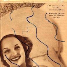 Coleccionismo de Revistas y Periódicos: ROCHELLE HUDSONL 1935 ESTRELLA CINE AMERICANO HOJA PORTADA REVISTA. Lote 128066439