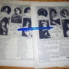 Coleccionismo de Revistas y Periódicos: RECORTE PRENSA : LAS ARTISTAS DE LARA. BLANCO Y NEGRO, OCTBRE 1915. Lote 128097411
