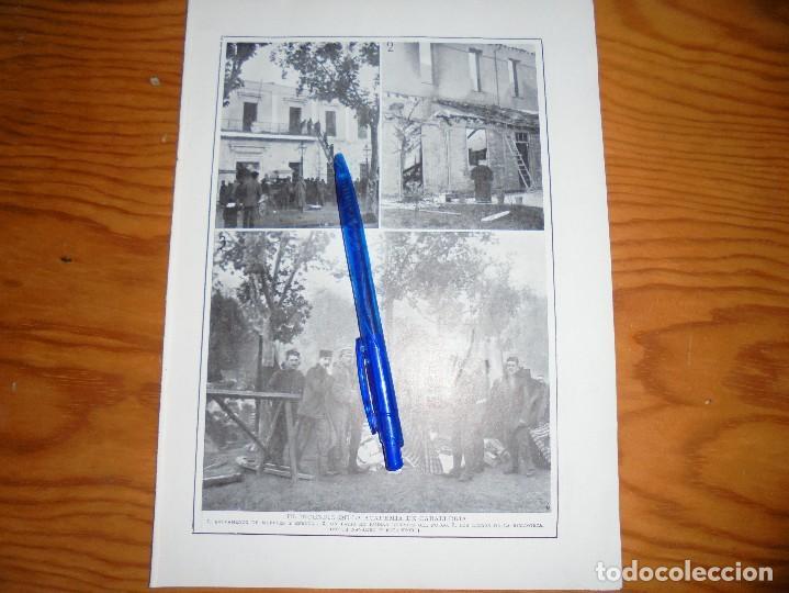 RECORTE PRENSA : EL INCENDIO DE LA ACADEMIA DE CABALLERIA. BLANCO Y NEGRO, OCTBRE 1915 (Coleccionismo - Revistas y Periódicos Antiguos (hasta 1.939))