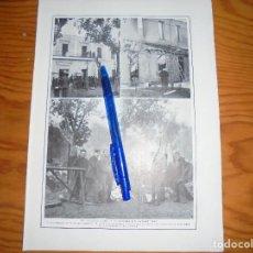 Coleccionismo de Revistas y Periódicos: RECORTE PRENSA : EL INCENDIO DE LA ACADEMIA DE CABALLERIA. BLANCO Y NEGRO, OCTBRE 1915. Lote 128097727