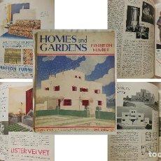 Collezionismo di Riviste e Giornali: HOMES & GARDENS. INCORPORATING HOME MAGAZINE AND THE GARDEN. NO II, VOL 14, APRIL 1933.. Lote 128156711
