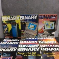 Coleccionismo de Revistas y Periódicos: REVISTA BINARY - LOTE DE 14 EJEMPLARES - INFORMÁTICA AÑOS 90. Lote 128168427