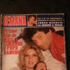 Coleccionismo de Revistas y Periódicos: ESTEFANIA-FAMA-MARIA FÉLIX-JACLYN SMITH-NIKKA COSTA-MARISOL-MARIA JIMENEZ-CARMEN SEVILLA-. Lote 128181927