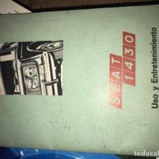 Coleccionismo de Revistas y Periódicos: MANUAL SEAT 1430. Lote 128183299
