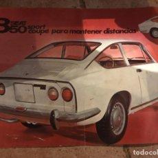 Coleccionismo de Revistas y Periódicos: FOLLETO SEAT 850 SPORT COUPE. Lote 128183395