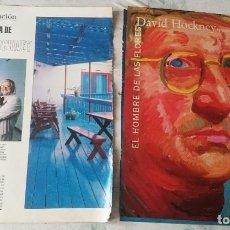 Coleccionismo de Revistas y Periódicos: EN CASA DE DAVID HOCKNEY / EL HOMBRE DE LAS FLORES (BLANCO Y NEGRO / EL PAÍS SEMANAL CIRCA 1996). Lote 128189631