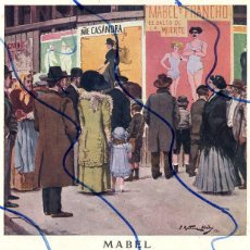 Coleccionismo de Revistas y Periódicos: MARTINEZ ABADES 1910 ILUSTRACION HOJA REVISTA. Lote 128249243
