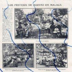Coleccionismo de Revistas y Periódicos: MALAGA 1910 FIESTAS DE AGOSTO HOJA REVISTA. Lote 128305675