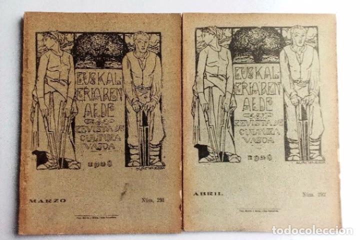 EUSKALERRIAREN ALDE REVISTA DE CULTURA VASCA 1928 NÚMEROS 291 Y 292 (ABRIL Y MARZO). (Coleccionismo - Revistas y Periódicos Antiguos (hasta 1.939))