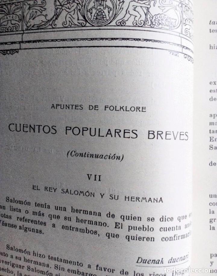 Coleccionismo de Revistas y Periódicos: EUSKALERRIAREN ALDE REVISTA DE CULTURA VASCA 1928 NÚMEROS 291 Y 292 (ABRIL Y MARZO). - Foto 4 - 128397147