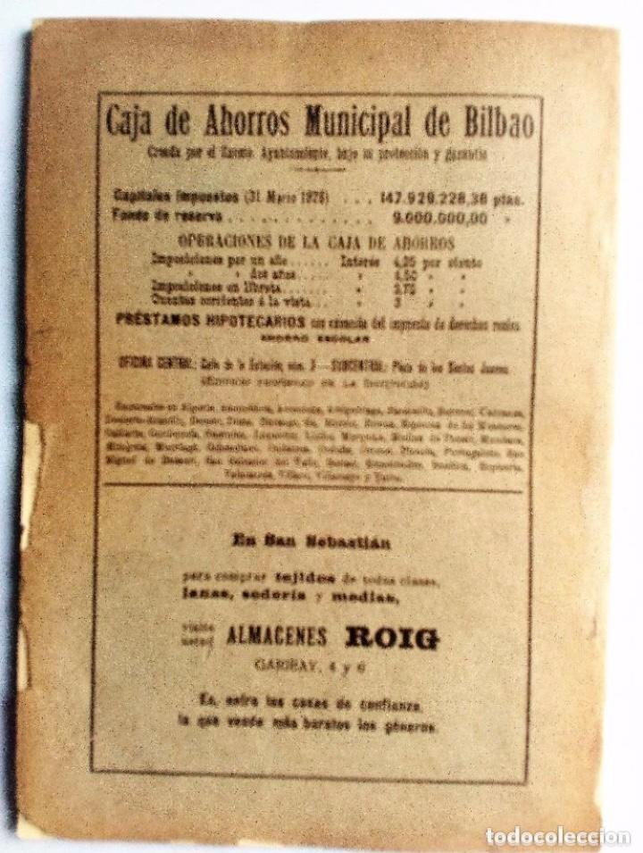 Coleccionismo de Revistas y Periódicos: EUSKALERRIAREN ALDE REVISTA DE CULTURA VASCA 1928 NÚMEROS 291 Y 292 (ABRIL Y MARZO). - Foto 11 - 128397147