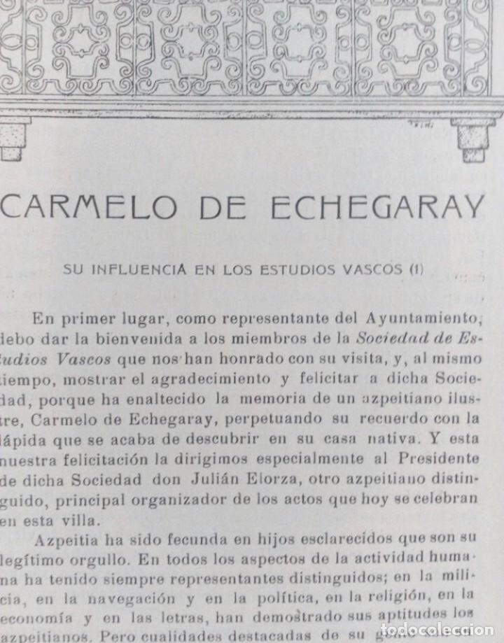 Coleccionismo de Revistas y Periódicos: EUSKALERRIAREN ALDE REVISTA DE CULTURA VASCA 1928 NÚMEROS 291 Y 292 (ABRIL Y MARZO). - Foto 16 - 128397147