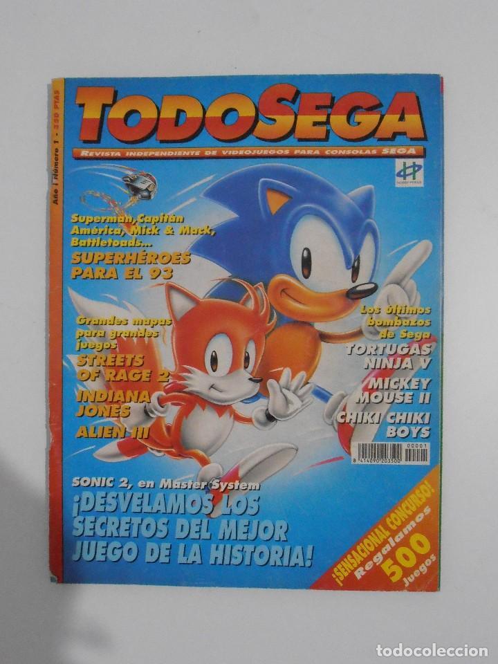 REVISTA TODOSEGA, Nº 1, SONIC 2, TODO SEGA, VIDEOJUEGOS (Coleccionismo - Revistas y Periódicos Modernos (a partir de 1.940) - Otros)