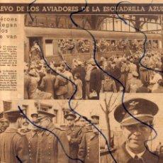 Coleccionismo de Revistas y Periódicos: ESCUADRILLA AZUL 1942 LOS HEROES DE RUSIA COMANDANTE SALAS HOJA REVISTA. Lote 215897052