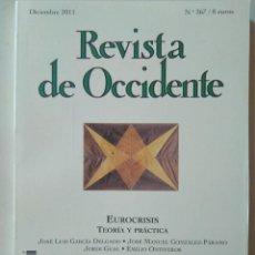 Coleccionismo de Revistas y Periódicos: REVISTA DE OCCIDENTE 367, DICIEMBRE 2011 FREUD, SUPERMAN CONTRA BATMAN, MARCELLO SERRA. Lote 128536091