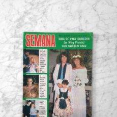 Coleccionismo de Revistas y Periódicos: SEMANA - 1977 - PACA GABALDON, LOLITA, DEBLAS, TOM JONES, M.J. CANTUDO, AMPARO MUÑOZ, NADIUSKA. Lote 128540023