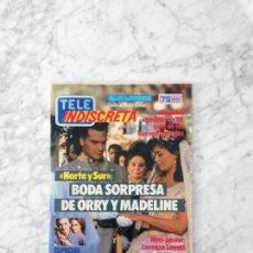 Coleccionismo de Revistas y Periódicos: TELE INDISCRETA - 1986 NORTE Y SUR, MORGAN FAIRCHILD, LOS COLBY, ALASKA, FALCON CREST, LORENZO LAMAS. Lote 128607067