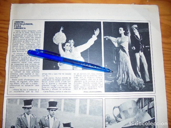 RECORTE PRENSA : SHOW, ROCIO DURCAL-JUNIOR, PARA AMERICA. ACTUALIDAD, JUNIO 1970 (Coleccionismo - Revistas y Periódicos Modernos (a partir de 1.940) - Otros)
