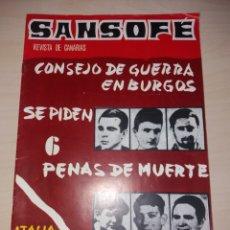 Coleccionismo de Revistas y Periódicos: SANSOFE - REVISTA DE CANARIAS - NUM. 44. Lote 128632592