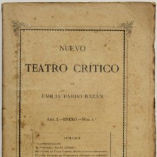 Coleccionismo de Revistas y Periódicos: NUEVO TEATRO CRÍTICO. AÑO I. ENERO. NÚM 1. - [REVISTA.] PARDO BAZÁN, EMILIA.. Lote 123270775
