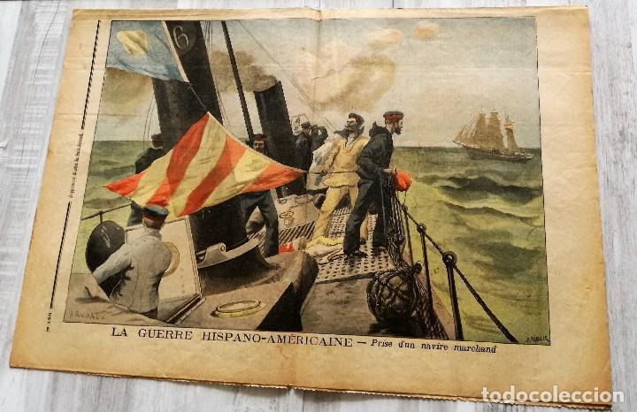 Coleccionismo de Revistas y Periódicos: LE PETIT JOURNAL 15 MAYO DE 1898: GUERRA DE CUBA (HISPANO - NORTEAMERICANA) EN ESPAÑA - Foto 3 - 128701419