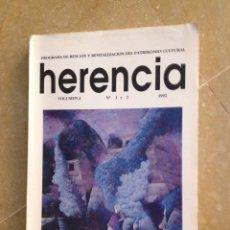 Coleccionismo de Revistas y Periódicos: HERENCIA. UNIVERSIDAD COSTA RICA. PRIMERAS CRÓNICAS SOBRE AMÉRICA, NUEVA VISIÓN DE LA CONQUISTA. Lote 128705323