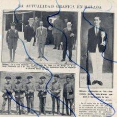 Coleccionismo de Revistas y Periódicos: MALAGA 1924 ACTUALIDADES HOJA REVISTA. Lote 128756343