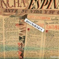 Coleccionismo de Revistas y Periódicos: REVISTA AÑO 1945 CONCHA ESPINA CIRCO REGINO SAINZ DE LA MAZA JUAN RAMON JIMENEZ MOGUER JUAN CABANAS . Lote 128778851