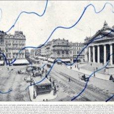 Coleccionismo de Revistas y Periódicos: BRUSELAS 1896 BOULEVARD ANSPACK HOJA DE REVISTA. Lote 128809535