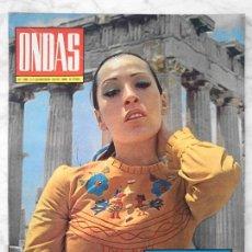 Coleccionismo de Revistas y Periódicos: ONDAS - 1969 - MASSIEL, ANTONIO GADES, RAPHAEL, NINO BRAVO, CHELE, JACKIE ONASSIS, PERET. Lote 49849241