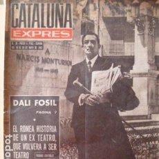 Coleccionismo de Revistas y Periódicos: DALI -PORTADA DE CATALUÑA EXPRES 1962-. Lote 129180603