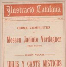 Coleccionismo de Revistas y Periódicos: ILUSTRACIÓ CATALANA 1914 Nº 563 BARCELONA PESCADORS AL MOLL . Lote 129260639