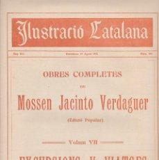 Coleccionismo de Revistas y Periódicos: ILUSTRACIÓ CATALANA 1914 Nº 585 BARCELONA RAXA MALLORCA FESTES BADALONA. Lote 129262391