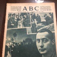 Coleccionismo de Revistas y Periódicos: ABC 29 NOVIEMBRE 1939 JOSE ANTONIO. Lote 129321038