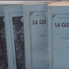 Coleccionismo de Revistas y Periódicos: LA CASA DE VAPOR JULIO VERNE GASPAR MADRID 1880 1,2,3 Y 4 COMPLETO. Lote 194744566