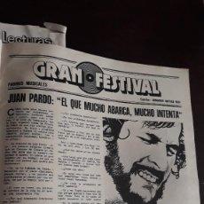 Coleccionismo de Revistas y Periódicos: JUAN PARDO. Lote 129371627