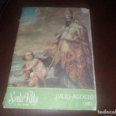 Coleccionismo de Revistas y Periódicos: REVISTA RELIGIOSA SANTA RITA Y EL PUEBLO CRISTIANO AÑO 1987. Lote 129456155