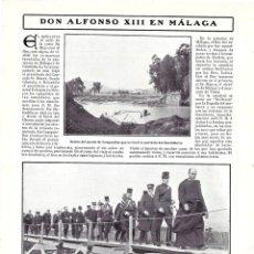 Coleccionismo de Revistas y Periódicos: 1907 HOJA REVISTA MÁLAGA INUNDACIONES PUENTE DE CAMPANILLAS GUADALHORCE REY ALFONSO XIII. Lote 129549911