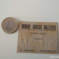 Coleccionismo de Revistas y Periódicos: PUBLICIDAD REVISTA ORIGINAL 1949.DAMIAN GARCIAS BALLESTER MAESTRO ALBAÑIL, LLUCHMAYOR. Lote 129643591