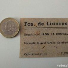 Coleccionismo de Revistas y Periódicos: PUBLICIDAD REVISTA ORIGINAL 1949. FABRICA LICORES MIGUEL PERLLO GELABERT, LLUBI MALLORCA. Lote 129643827