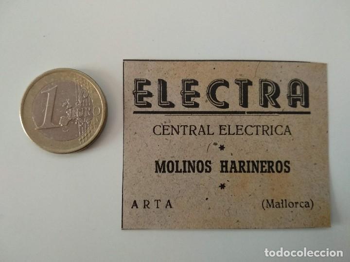 PUBLICIDAD REVISTA ORIGINAL 1949.CENTRAL ELECTRICA ELECTRA MOLINOS HARINEROS, ARTA MALLORCA (Coleccionismo - Revistas y Periódicos Modernos (a partir de 1.940) - Otros)
