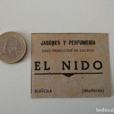 Coleccionismo de Revistas y Periódicos: PUBLICIDAD REVISTA ORIGINAL 1949.JABONES EL NIDO, BUÑOLA BUNYOLA MALLORCA. Lote 129644447
