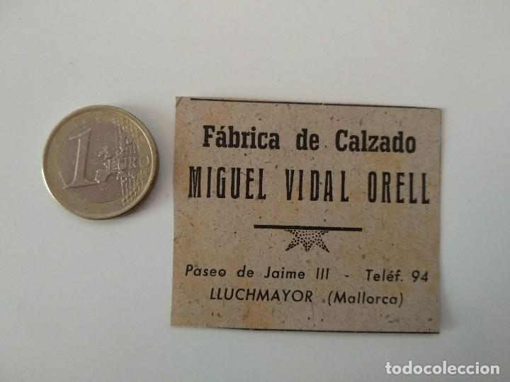 PUBLICIDAD REVISTA ORIGINAL 1949.FABRICA CALZADO MIGUEL VIDAL ORELL, LLUCHMAYOR (Coleccionismo - Revistas y Periódicos Modernos (a partir de 1.940) - Otros)