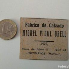 Coleccionismo de Revistas y Periódicos: PUBLICIDAD REVISTA ORIGINAL 1949.FABRICA CALZADO MIGUEL VIDAL ORELL, LLUCHMAYOR. Lote 129644755